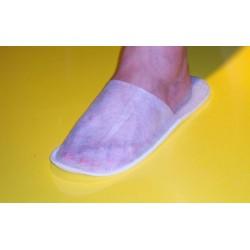 Pantofle włókninowe z piankową podeszwą