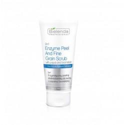 2 w 1 Enzymatyczny peeling drobnoziarnisty do twarzy z papainą i bromelainą