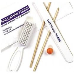 Zestaw sanitarny dla klientki do manicure naturalnego