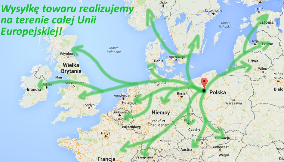Wysyłka na terenie UE ARKADIA